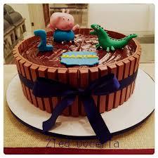 kitkat george pig cake geburtstagstorte kuchen geburtstag