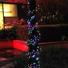 Christmas Tree Lights Amazon by Upgraded Multi Color 65ft Long 200 Led Outdoor String Lights Solar
