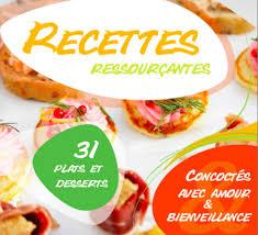 livre de recettes de cuisine gratuite recettes ressourçantes un livre de recettes santé gratuit
