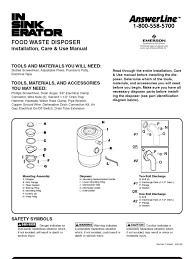 Garbage Disposal Leaking From Bottom Plate by Badger 5 Garbage Disposal User Manual Electrical Connector
