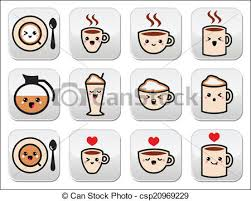 Cute Coffee Cappuccino Icons