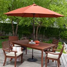 9 Ft Patio Umbrella Frame by 9 Ft Push Button Tilt Patio Umbrella With Rust Red Orange Shade