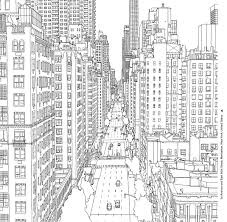 Fantastic Cities By Steve McDonald Page To Print Out And Color