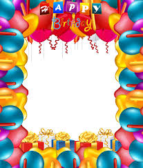 Happy Birthday Balloons Transparent PNG Frame