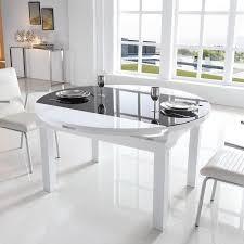 table à manger ronde extensible table basse design verre trendsetter