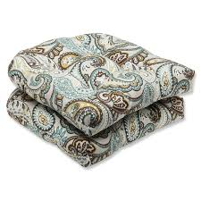 Ebay Patio Furniture Cushions by Amazon Com Pillow Perfect Outdoor Tamara Paisley Quartz Wicker