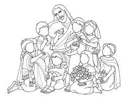 Coloring Pages Jesus Children