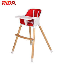 Wooden High Chair Adjustable Feeding Baby Highchairs For ...