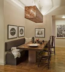 17 Best Ideas About Beauteous Dining Room Table With Bench Against