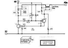 Car Turn Signal Flasher Circuit with Lamp Malfunction Indicator