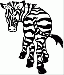 Brilliant Baby Zebra Coloring Pages With Page And For Preschoolers