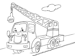 Coloriage Tractopelle Camion