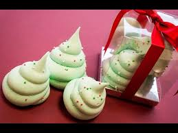 Christmas Tree Meringues Uk by Meringue Christmas Trees Youtube