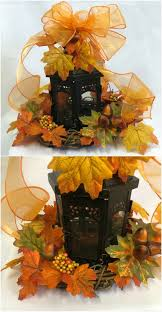Fall Leaf And Lantern Centerpiece