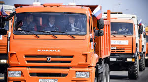 Putin Inaugurates Controversial Bridge By Driving A Truck Across To ...