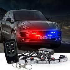 100 Strobe Light For Trucks 8 LED Car Truck Wireless Red Blue Warning S Bars