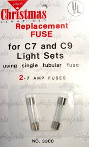 Fixing Christmas Tree Lights Fuse by Pack Of 2 Replacement Fuses For C7 Or C9 Christmas Lights 7 Amps