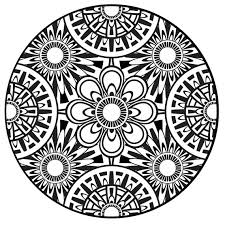 Fancy Plush Design Coloring Mandalas For Adults Page Mandala Instant PDF Download Printable
