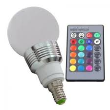 e27 rgb multi color led light bulb with remote