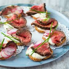 beef canape recipes beef and horseradish crostini canapés and foods