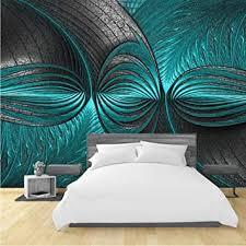 moderne 3d tapeten türkis grün wandmalerei fototapete