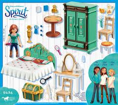 playmobil spirit lucky s schlafzimmer 9476