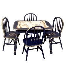 Antique Nautical Map Play Table And Chairs Set