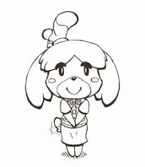 Animal Crossing Isabelle Lineart