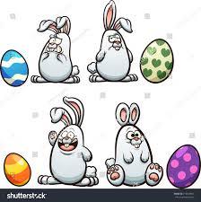 Cartoon Easter Bunny Vector Clip Art Stock Vector