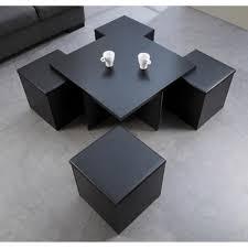 table basse avec pouf moins cher le bois chez vous