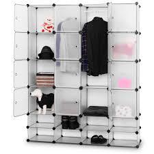 Costway Costway DIY 168 Cube Portable Clothes Wardrobe Cabinet