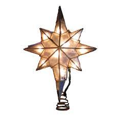 Bethlehem Lights Christmas Trees by Amazon Com Kurt Adler 10 Light Capiz Star Of Bethlehem Clear
