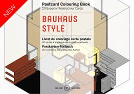 100 Bauhaus Style Pepin Artists Postcard Adult Colouring Book 20 Designs