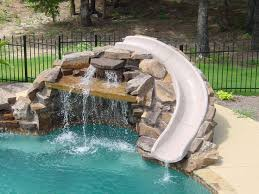 Swimming Pool Designs With Slides Residential Inground Safety Information And