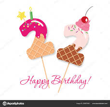 100 Sweet 22 Happy Birthday Card Festive Numbers Coctail Straws Funny