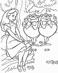 Alice In Wonderland Color Pages