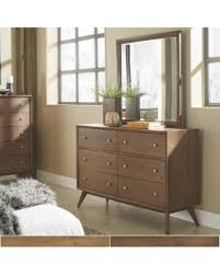 New Savings on Sylvia Mid Century Wood Dresser and Mirror by