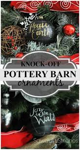 Pottery Barn knock off ornaments Sawdust 2 Stitches