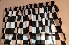 amazon com window curtain valance made from racecar checkered