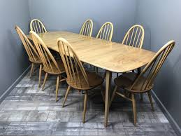 Stunning Ercol Grand W/ 8 Chairs Vintage Retro Elm Blonde Extending ... Blonde Woman In Black Kitchen Ding Room Side Stock Image Art Deco Table Plus 4 Matching Chairs 509692 Ball And Claw Pladelphia Chair Kennedy Ding Suite With Benson Chairs Focus On Fniture Drexel Heritage Compatibles Wood Set Four City Brewing Publicans Gathering W Lager Alf Italy Modern Chairish Stunning Retro Ercol Vintage Light Brooklyn Home Tour Style Drop Leaf Quaker Back Mcm Blonde Splayed Leg Table 5 Picked 54 Round Elegant Pine Center Or Intended