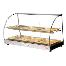 100 Countertop Glass Skyfood FWD2336P 33 FullService Heated Display Case W Curved 2 Levels 120v