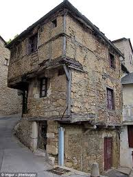 This Ancient House In Aveyron France Dates Back To The Century And Was Built Top Heavy As A Cost Saver Because At Time Homes Were Taxed On