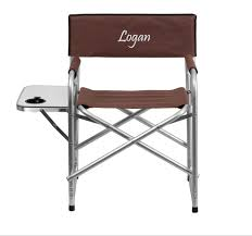 Personalized Aluminum Folding Brown Camping Chair W/Table & Holder ... Pnic Time Red Alinum Folding Camping Chair At Lowescom Extra Large Directors Tan Best Choice Products Zero Gravity Recliner Lounge W Canopy Shade And Cup Holder Tray Gray Timber Ridge 2pack Slimfold Beach Tuscanypro Hot Rod Editiontall Heavy Duty Director Side Tray29 Seat Height West Elm Metal Butler Stand Polished Nickel Replacement Drink For Chairs By Your Table Sports Hercules Series 1000 Lb Capacity White Resin With Vinyl Padded