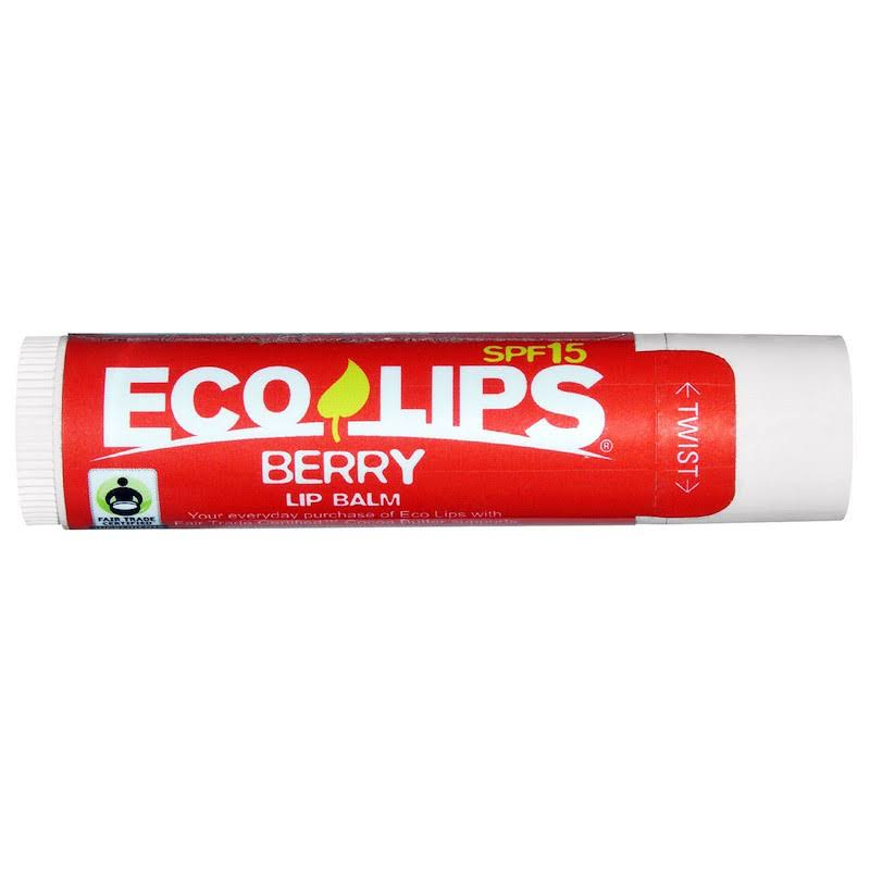 Eco Lips Organic Lip Balm - Berry, SPF 15, 0.15oz