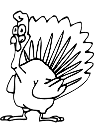 Kids Turkey Coloring Page