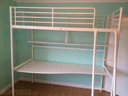 ikea white tromso bunk bed with shelf desk for sale in templeogue