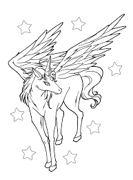 Realistic Flying Unicorn Coloring Pages Collection Free Source Getcolorings DOWNLOAD