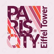 Paris City Typography Emblem Capital Of Fashion And Tourism Stylish Graphics Printing Design