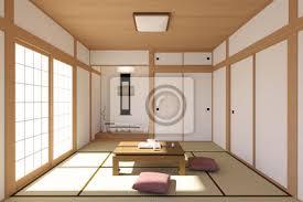 fototapete japanisches wohnzimmer interieur in traditionellen und minimalen