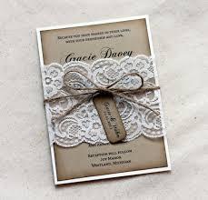 Lace Rustic Wedding Invitations Kraft By LovelyRusticWeddings
